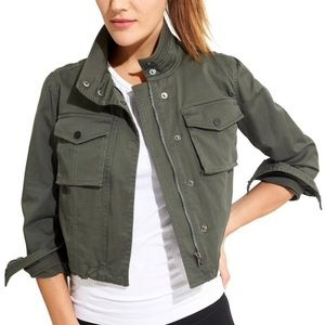 Athleta Cropped Military Jacket Army Green Size L